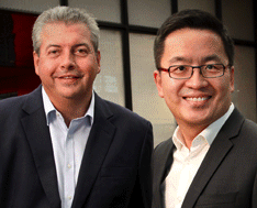 EDB's Kelvin Wong (right) with O&M's Chris Riley